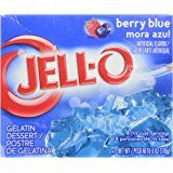 Jell-O Gelatin Dessert, Berry Blue, 3-Ounce Boxes (Pack of 6)