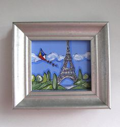Miniature Eiffel Tower Painting kite Paris by BrookeHowie on Etsy, $25.00