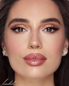 glam makeup – Hair and beauty tips, tricks and tutorials Wedding Makeup For Brown Eyes, Bridal Makeup Looks, Wedding Hair And Makeup, Glam Makeup, Beauty Makeup, Eye Makeup, Hair Makeup, Makeup Contouring, Highlighter Makeup