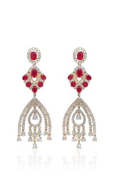 Mesmerizing Ripples Earrings by Farah Khan Fine Jewelry for Preorder on Moda Operandi