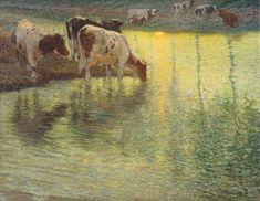 「レイエ川の水飲み場」1897年 姫路市立美術館蔵