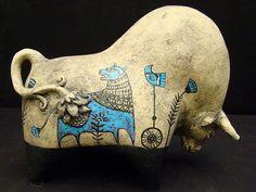 blue beasts by Roman Khalilov - ЯRAMIL, via Flickr Sculpture Metal, Pottery Sculpture, Pottery Animals, Ceramic Animals, Ceramic Pottery, Ceramic Art, Horse Dance, Blue Horse, Ceramic Figures