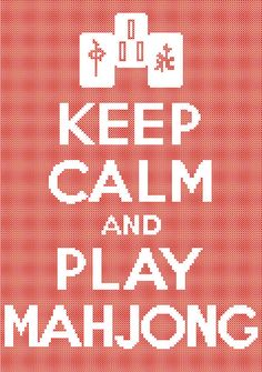 Keep Calm and Play Mahjong Counted Cross Stitch by robinsdesign, $5.00