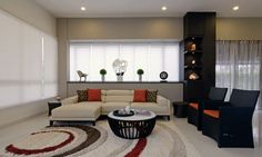 Diseño de Interiores & Arquitectura: Interiores sin Complicaciones, Espaciosa y Ordenada Casa en Singapur