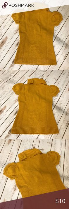 """Yellow turtle neck sweater Yellow turtle neck sweater size small. No stains or rips. Measurements for flat lay: shoulder to shoulder 11"""" armpit to armpit 13"""" Top to bottom 21.5"""" sleeve length 4"""" love rocks Tops Blouses"""