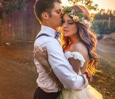 Jeremy Roloff and Audrey Botti Wedding Flower Crown