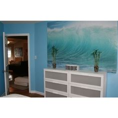 Amazon.com: New Ikea Premiar Ocean Waves Hawaii Picture with Frame/canvas Large 55 X 78 Inches