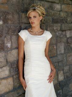 modest wedding dress.