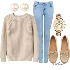 neutrals, change the pearls and shoes but love the concept