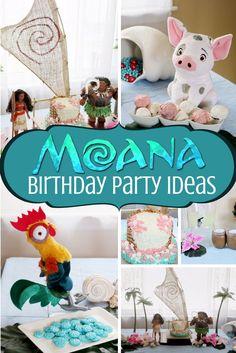 Moana Birthday Party Ideas - Jenny The Voice Turtle Birthday Parties, Happy Birthday, 2nd Birthday, Birthday Ideas, Moana Party, Moana Theme Birthday, Diy Unicorn, Hawaian Party, Disney Princess Party