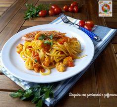 Linguine+con+gamberoni+e+zafferano