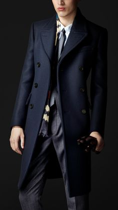 Wool Felt Tailored Coat