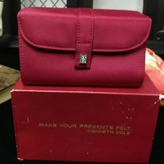 Last Call Kenneth Cole Wine Evening Clutch Wine Red with Rhinestone closure Kenneth Cole Bags Clutches & Wristlets