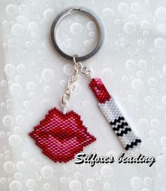 http://www.megansbeadeddesigns.com/product/beading-pattern-lipstick-and-a-kiss-earrings-charms http://www.megansbeadeddesigns.com/pro...