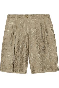 THE TREND EDIT SS2012 Short Story No. 8/25 DOLCE & GABBANA  Lace and crepe shorts