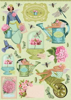 Clip Art Gardenparty. by TILDAoutlet on Etsy, €3.15