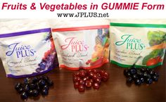 Most of us have a hard time eating the recommended 7-13 fruits and vegetables each day. Juice Plus capsules or gummies are the next best thing to actually eating fruits & vegetables.   For more information visit our online store:   Click here: www.JPLUS.net