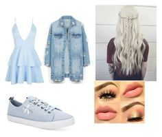 """""""💙"""" by stefanie-ege on Polyvore featuring Boohoo, LE3NO and Calvin Klein"""