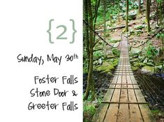 Foster Falls. Fun trail, complete with a swinging bridge over the creek. :)