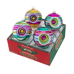 Shiny Brite Vintage Celebration Rounds with Reflectors  Set of Four ** Check out the image by visiting the link.