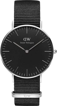 d0af14e4373a3f Daniel Wellington Classic Black Cornwall NATO-strap stainless steel watch