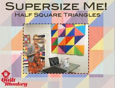 Make a supersized half square triangle quilt top in a day! Quilting tutorial here! #freevideo
