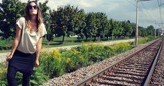 http://www.ninaluba.si/  #ninaluba #t-short #pants #blask #silver #fashion #handmade #fashiondesigner
