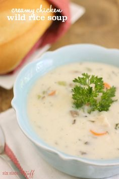 Creamy Chicken and Wild Rice Soup - With the fresh veggies and creamy base, it will warm you up from the inside out.