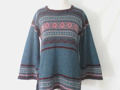 70's Bell Sleeve Sweater Vintage 1970's Sweater by ChinaCatVintage