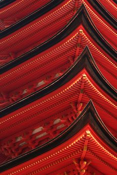 Miyajima, Japan, Red Pagoda by Jenny Hall