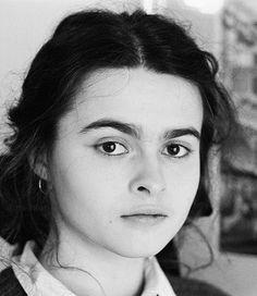 A young Helena Bonham-Carter Helena Bonham Carter, Helen Bonham, Helena Carter, Tim Burton, Ella Enchanted, Black Sisters, Bellatrix Lestrange, Slytherin Aesthetic, Johnny Depp