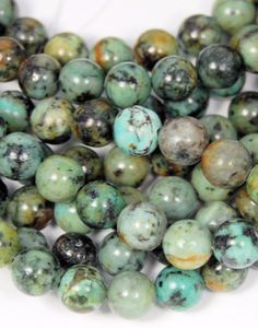 African Turquoise Jasper 8mm round beads -15.5