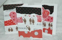 Scrappy Love Valentines Note Card Set of 8. $10.00