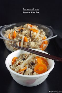 Takikomi gohan is a Japanese rice dish cooked with soy sauce, dashi stock, and various ingredients such as mushrooms, vegetables, and meats. This dish is easy to prepare since there is no hard rule on which ingredients to use. For this recipe, I use three kinds of mushroom, shimeji, enoki, and shiitake, along with carrot …