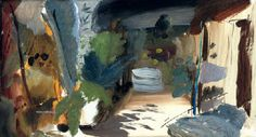 Ivon Hitchens Terrace Pool, Summer, oil on canvas, 17 x 30 in. Painting Collage, Abstract Landscape Painting, Paintings I Love, Landscape Art, Landscape Paintings, Klimt, Kunst Online, Online Art, Paint Photography