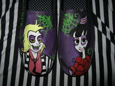 Beetlejuice TV Show Custom Painted Shoes Made to by TheDandyPrince, $80.00