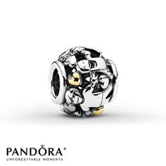 Pandora Charm Family Forever Sterling Silver/14K Yellow Gold----One day I am getting this for you @the red stitch Marozas  , it is the Family Forever charm and we are family and will be forever , love you!