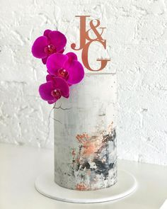 Triple barrel wedding cake from last weekend. This was about tall 😮 the height in itself is super effective but my gosh, delivering… Funky Wedding Cakes, Tall Wedding Cakes, Wedding Cake Designs, One Tier Cake, Single Tier Cake, Beautiful Cake Designs, Gorgeous Cakes, Cake Toppers Australia, Orchid Cake