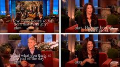 Lauren Graham on Ellen talking about Peter Krause