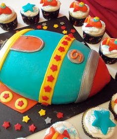 Out of This World Rocket Ship cake