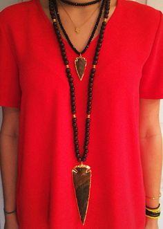Arrow heads and beads.