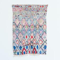 Moroccan Boucherouite Small Diamond Rug, nine hundred dollars.....vintage