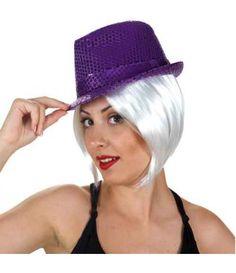 Καπέλο καβουράκι Με Πούλιες σε μαύρο ή μοβ χρώμα