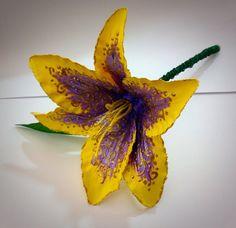 Small Rapunzel Tangled Themed Flower by KoalaBlu2u on Etsy