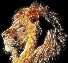 lion graphics   Fractal Lion Image