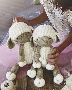Handmade crochet sheep. 45 cm height. by SusiMiu on Etsy
