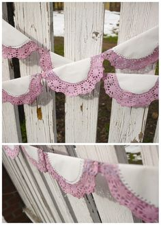 Dyed Doily Garland | The Art of Awkward
