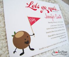 Adorable invites on Etsy: Ohio State Buckeye Retro Baby Shower