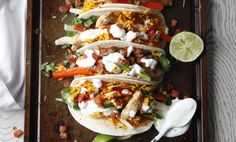 You'll love this dinner in ready in 30 minutes or less and so will the whole family! Prepare Knorr® Menu Flavors Rice Sides™ - Buffalo Chicken flavor, then cook onion and bell pepper and stir in lime juice. Coat chicken in cayenne pepper sauce. Divide rice, chicken, and vegetables among tortillas and top with your favorite taco toppings. These buffalo chicken tacos are sure to please to be a dinner favorite.