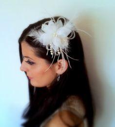 Wedding Hair Flower Bridal Hair Accessories by SparklyLittleStar, $39.00